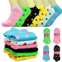 New 12 Pairs For Women Fashion Cotton Casual Ankle Low Cut S