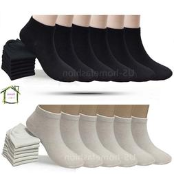 New 6 12 Pairs Mens Womens Multi Color Low Cut Ankle Socks S