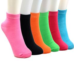 New 6-12 Pairs Womens Ankle Quarter Socks Size 9-11 Multi Co