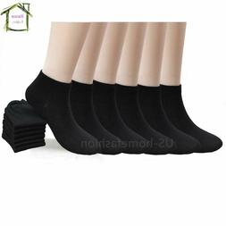 New Lot 6 12 Packs Ankle Socks Cotton Mens Womens Size 9-11