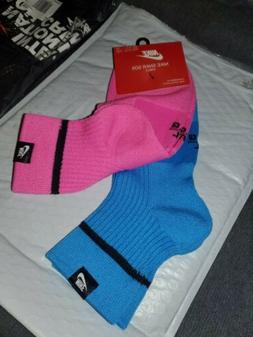 NEW Nike SNKR SOX Ankle Socks 2 Pair Blue Pink Size M8-12 W1