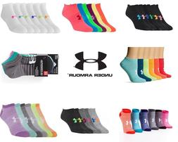New Under Armour UA Ladies & girls No Show Ankle Socks 6 Pai