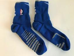Nike NBA Cushion Blue and White Ankle Socks Size XL Authenti