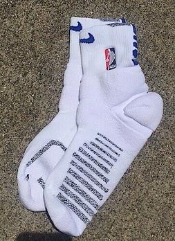 Nike NBA Cushion White and Blue Ankle Socks Size XL Authenti
