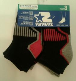 BOYS CHILD STARTER DRI-STAR ANKEL SOCKS 6 PACK SHOE SIZE 6-9