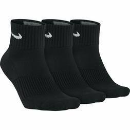 NIKE Performance Cushion Quarter Training Socks  Black/white