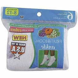 Fruit of the Loom Plus SZ Women's 6 Pack Ankle Socks