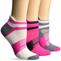 ASICS Women's Quick Lyte Cushion Single Tab Running Socks ,