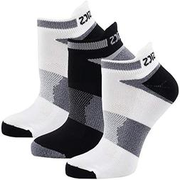 ASICS Unisex Quick Lyte Cushion Single Tab Socks , White/Bla