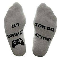 Socks, WOCACHI Men Unisex 'Do Not Disturb' Great Gamer Gift
