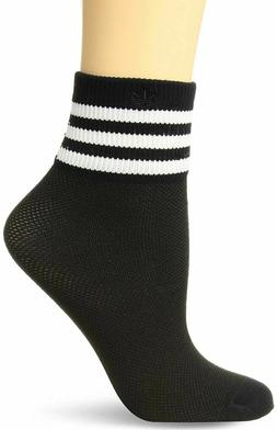 Adidas Socks Women's Originals Mesh Black Striped Ankle Sing