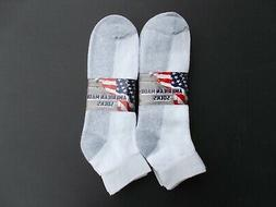 Sport Series Made In USA Men's  Ankle Socks Six Pairs Size 1