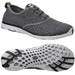ALEADER Women's Stylish Quick Drying Water Shoes Gray 8 D US