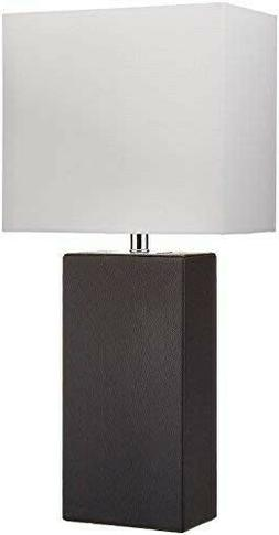 Table Lamps For Living Room Bedroom Set Of 2 Black Leather L
