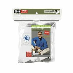 Hanes Men's Ultimate Cushion Ankle Socks 10-Pack White Shoe