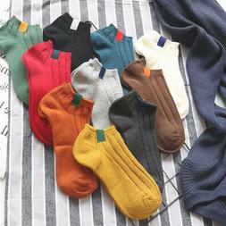 Unisex Casual Cotton Socks Ankle Boat Socks for Men or Women