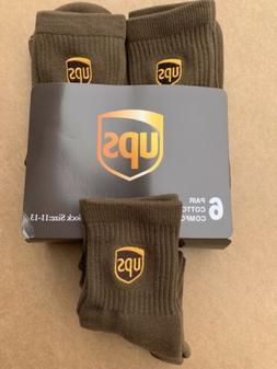 Ups Socks 6 Pairs Ankle Size L 11-13 Orders B-4 2 PST will s