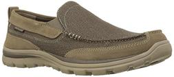 Skechers USA Men's Superior Milford Slip-On Loafer, Light Br