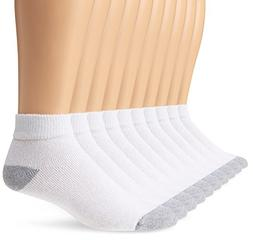 Fruit of the Loom Men's Value 10 Pack Ankle Crew Socks, Whit