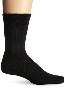 Thorlo Unisex Walking Crew Sock,Black, Medium