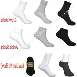 Wholesale Lots Men Solid Sports Cotton Crew Ankle Socks 3 CO