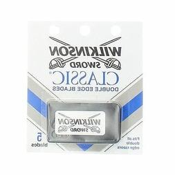 Wilkinson Sword Double Edge Razor Blade Refills for Men - 5