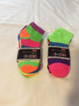 Womans Sumona Ankle Neon Colorful Socks 12 Pairs Size 9-11 N