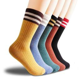 Women Casual Cotton Socks Thin Breathable Wicking High Ankle