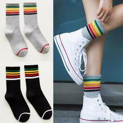 Women Casual Sports Socks Cotton Striped Warm Soft Ankle Soc