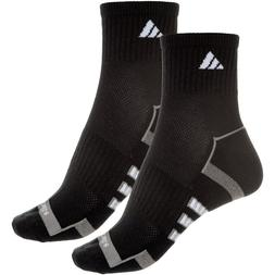 2 Pair Adidas Quarter Socks Women's Shoe Size 5-10, Black, W