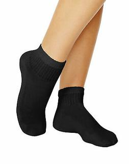 Women's Ankle Athletic Socks Pack of 10 Hanes Cushioned Blac