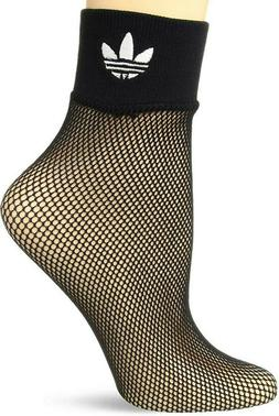 ADIDAS Women's Fishnet Ankle Socks Adult One Size  Black Tre