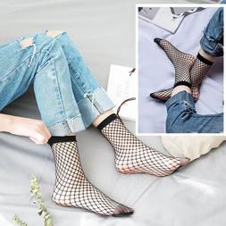 Women's Fishnet Ankle Socks Sheer Girl Fashion Sexy Stocking