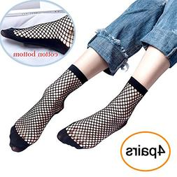 Women's Fishnets Ankle Socks,Ladies Ultra Thin Microfiber St
