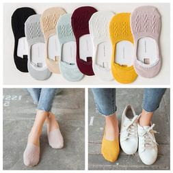 Women's Invisible Non-slip Low Cut Socks Cotton Breathable A
