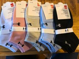 Under Armour Womens Ankle Socks 5 Pairs  Free shipping!